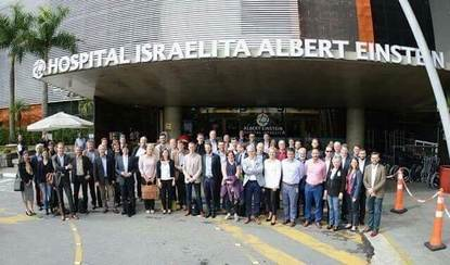 Participantes de encontro no Hospital Israelita Albert Einstein